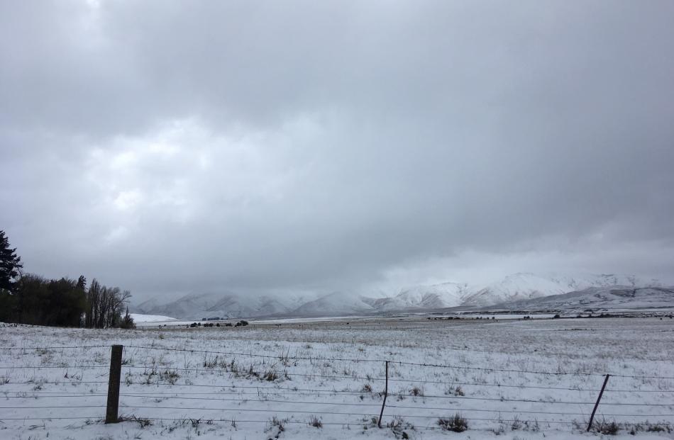 Snow has settled around Oturehua in the Maniototo. Photo: Pam Jones