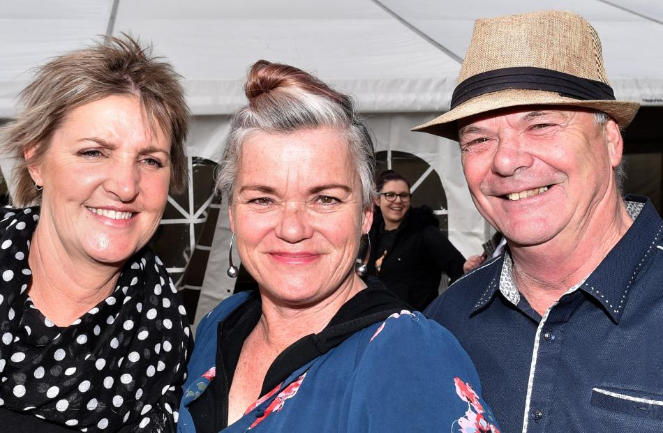 Lynette Spence, Sara Gillies and Keith Gillies, all of Milton.