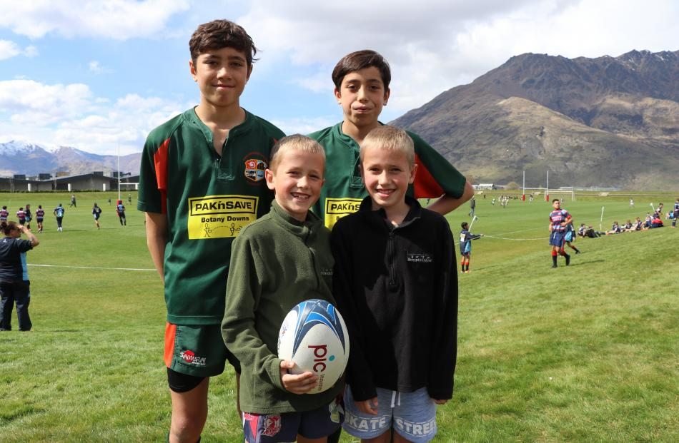 Lachlan and Aidan Finefeuiaki (both 12), Mason and Liam West (both 8), all from Auckland.
