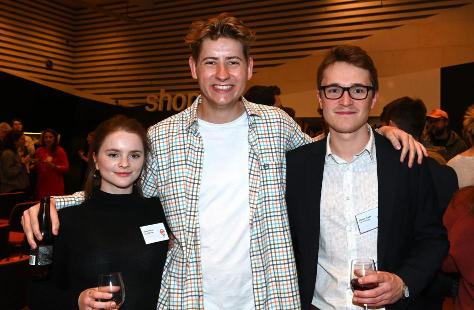 Alana Harris, Gabriel Dykes and Alistair Dykes (no relation), all of Dunedin.