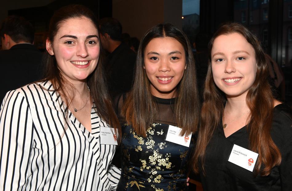 Ruby Hamilton, Lexi Yee and Laura McKissock, all of Dunedin.