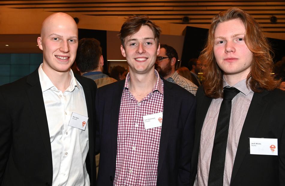 Ben Taylor, Sam Gouverneur and Jack Wicks, all of Dunedin.