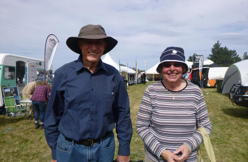 Donald and Denise Lowe, of Kakanui, enjoy attending the Otago Field Days each year.