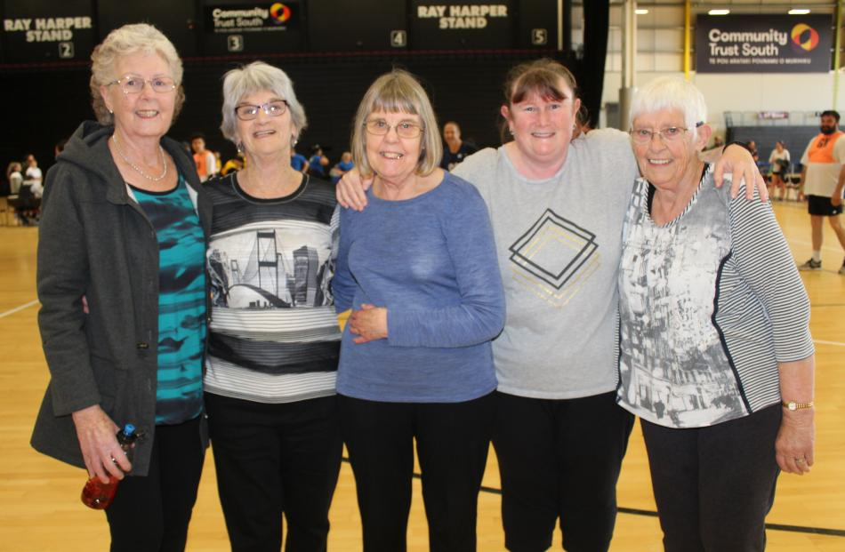 Jenny Mills, Jean Frost, Ann Beck, Jane Thompson and Jenny Crengle, all of Invercargill.