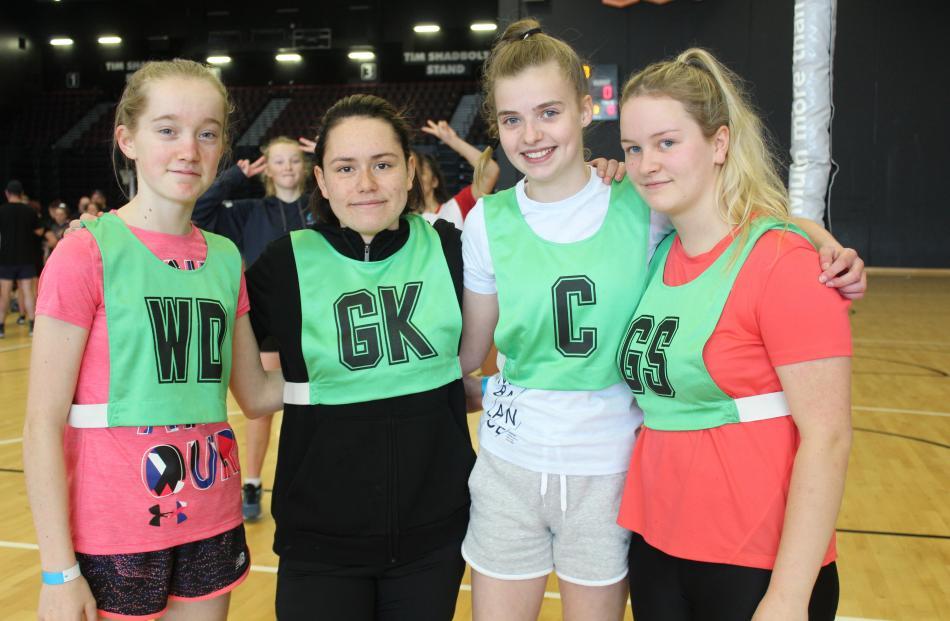 Southland Girls' High School pupils Laura Boniface, Atarangi Putt, Ella Collinson, and Scarlett...