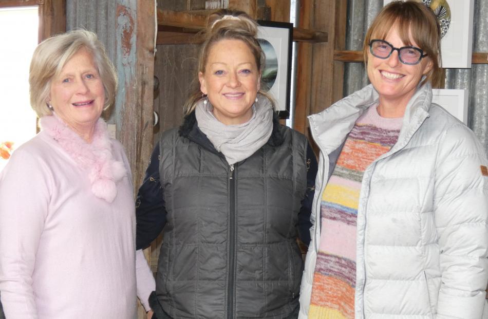 Gillian Watt, of Bannockburn, Juliet Best, of Wellington, and Odelle Morshuis, of Bannockburn.