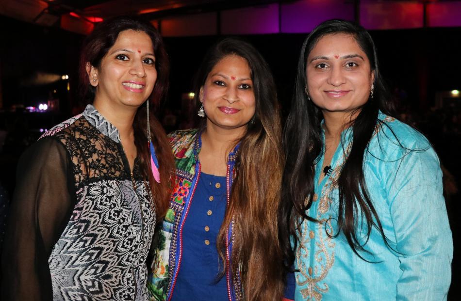 Pooja Sharma, Karishka Goel and Payal Panchal, all of Queenstown.