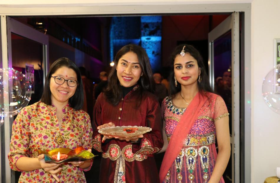 Octaviana Tjoa, Soleha Hidayat and Ritu Sharma, all of Queenstown.