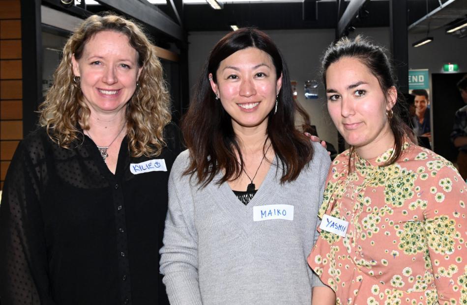 Kylie Jackson, Maiko Tsuji and Yasmin Nowak, all of Dunedin.