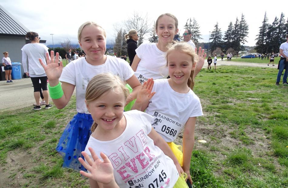 Front to back: Issy Asberg (8), Casey Knights Johnston (8), Ella Asberg (12) and Kaya Knights...