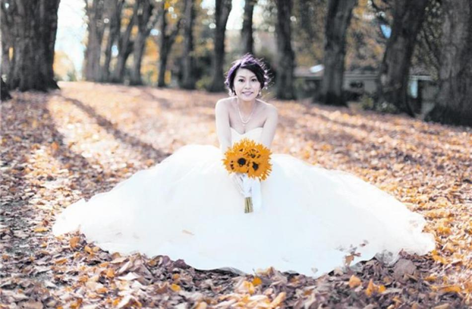 Sharon Lou, who married Timothy Hou in Wanaka in April. Photo by Alpine Image co.