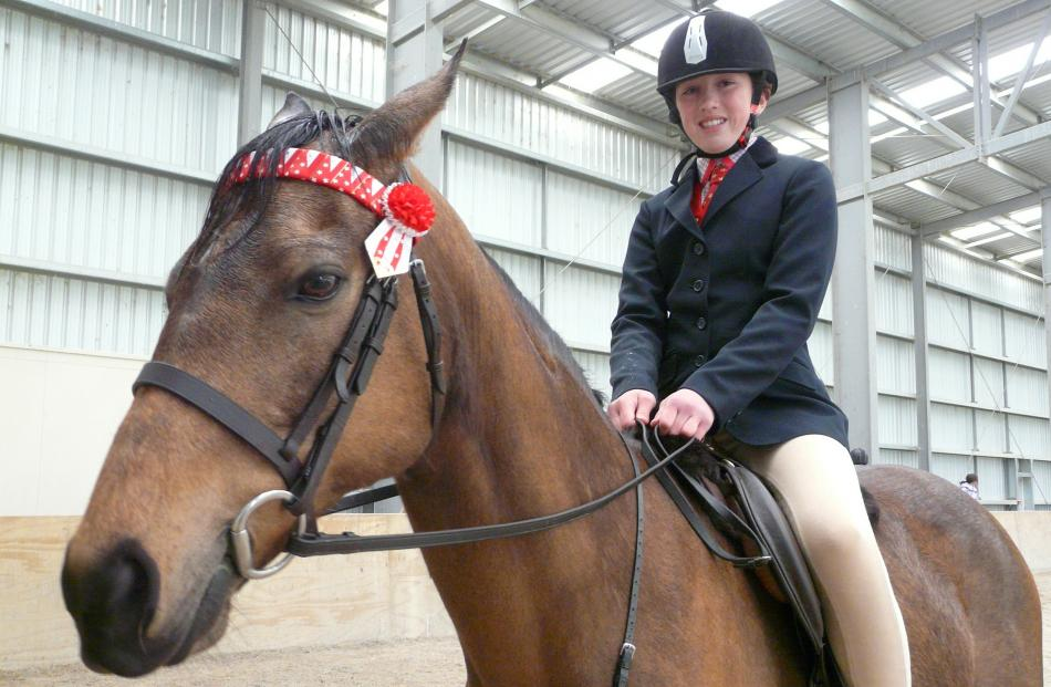 Zakeira Smith (12), of Tapanui, attended the show to learn new things and hone her equestrian...
