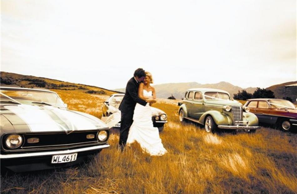 Chris Chilman and Kristy South on their wedding day in Wanaka in February. Photo by Carmen...