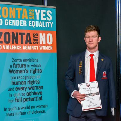 Celyn Edwards, Hillmorton High School, the award for the most outstanding achievement by a young...