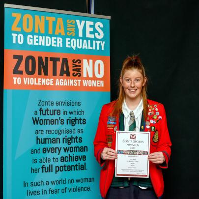 Kate Baird, St Margaret's Colledge, the award for contribution by a young woman as an...
