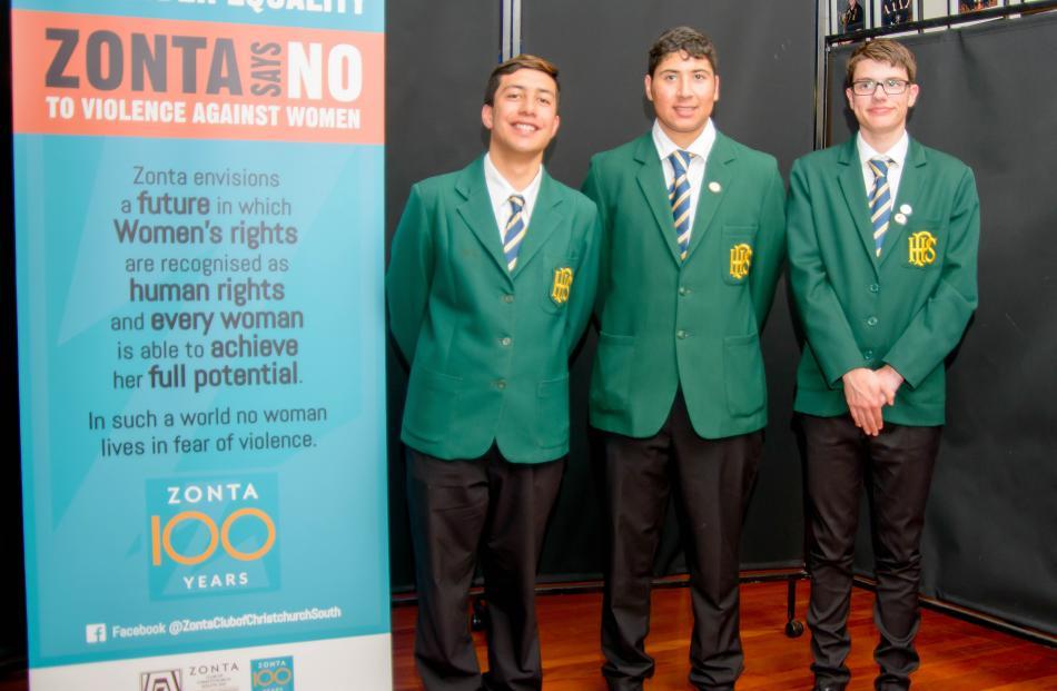 Papanui High School, outstanding team of young sportsmen award. PHOTO: Lee Malzard