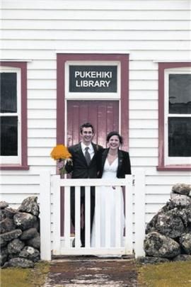Bissy More and Andy Groom, of Wellington, who were married at Broad Bay last October. Photo by...