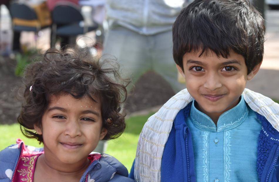 Arya (4) and Arjun (5) Kamath.