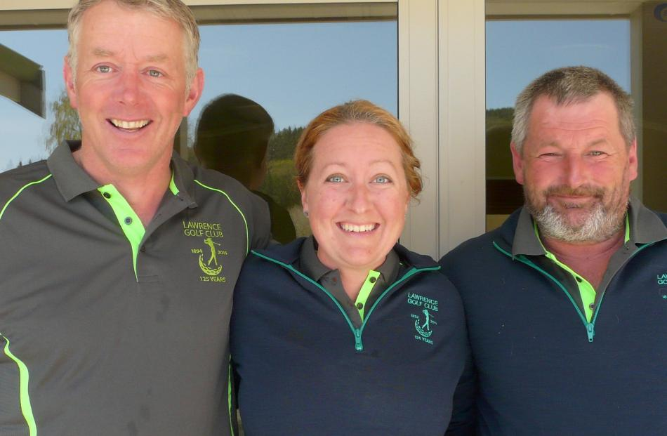 Hamish Brown and Dana Christiansen, both of Lawrence, and Colin Lockhart, of Waitahuna.