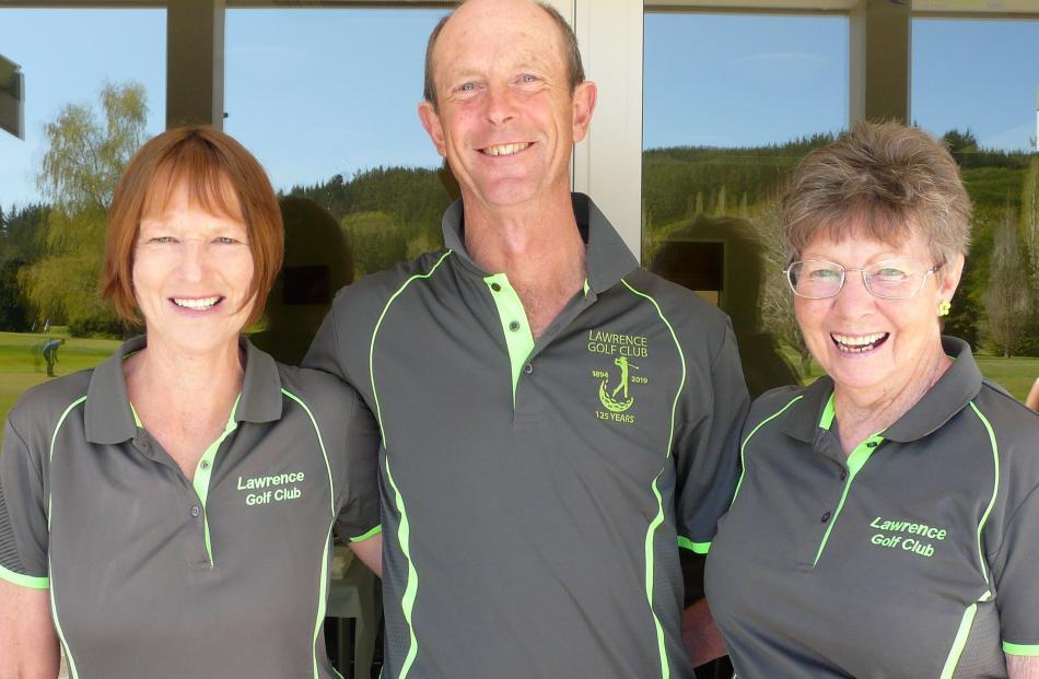 Barbara Chapman, of Lawrence, Geoff Scott, of Waitahuna, and Denise Neilan, of Lawrence.