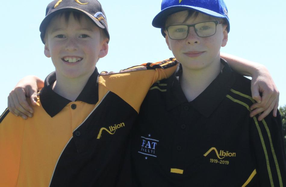 Hunter Whyte (9) and John Martin (11), both of Oamaru.