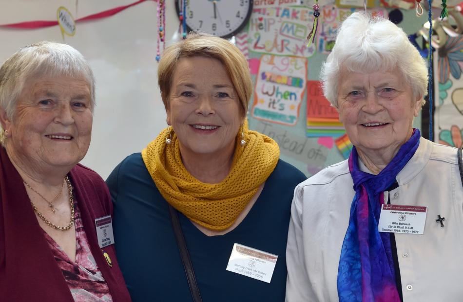 Dianne Casey, Stefany Frost Casey and Sister Rita Bonisch, all of Dunedin