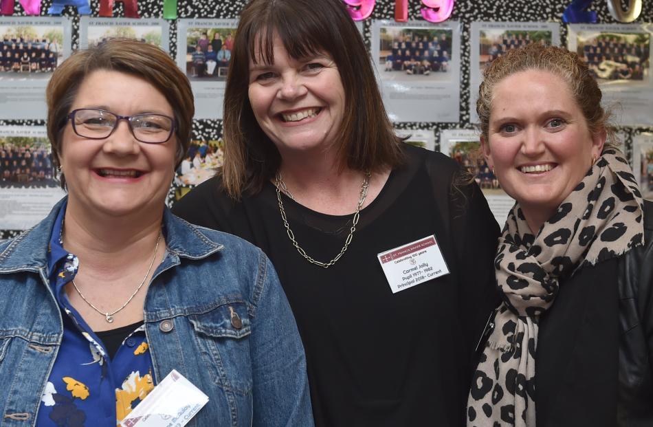 Lynne McAulay, Carmel Jolly and Teenaka Kennedy, all of Dunedin.