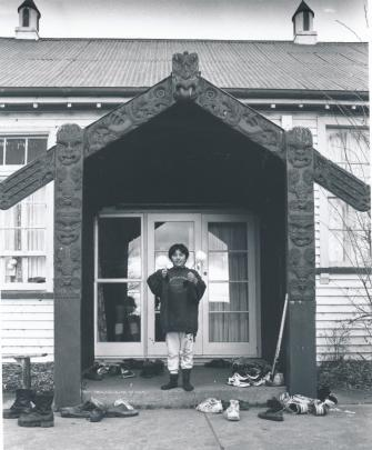 Nerissa Ka at a female cultural event held at the marae in 1994. (Photo: Ashburton Museum).