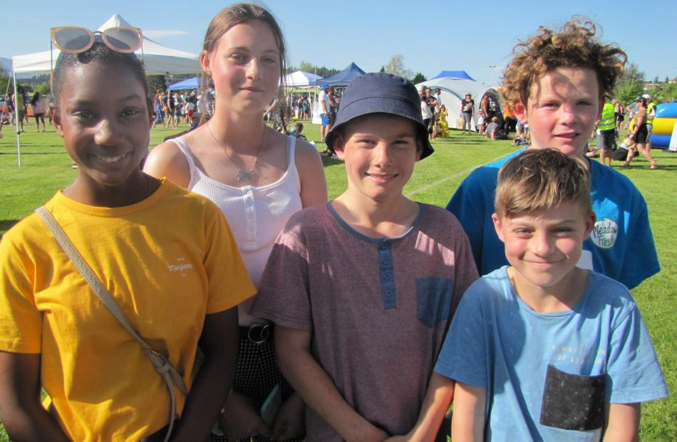 Kimberley Costa (12), Annajhay Waldron (12), Lachie Diack (11), Jack Waldron (10) and Charlie...