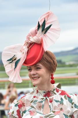 Fashions in the Field third place-getter Simone Montgomery at Wingatui.