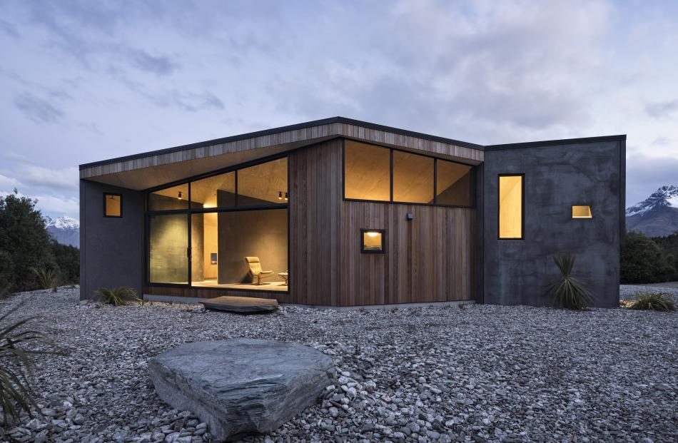 The Bivvy House in Queenstown (this image and next), the other winner in the small house category...