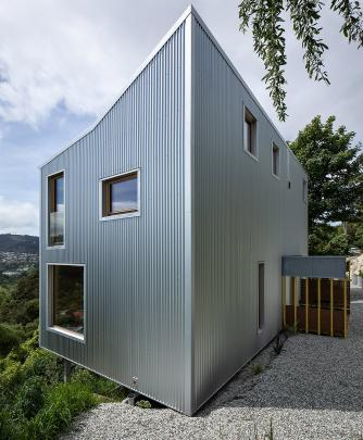"Kowhai House, in Dunedin, was described by judges as a ""resolutely internal house"" - it won one..."