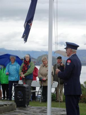 At Wanaka, the New Zealand flag is raised and lowered by Ralph Fegan.
