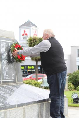 About 20 people gathered at the Invercargill Cenotaph yesterday.