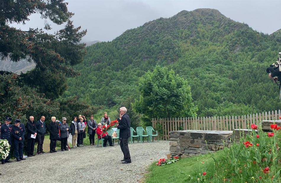 The Armistice Day ceremony in Arrowtown.
