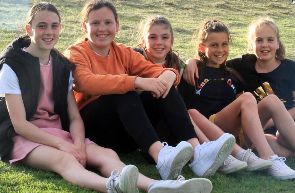 Olivia Mavor (13), Emma Fox (13), Lucy Mavor (11), Ruby Fox (11) and Millie Rushton (11), all of...