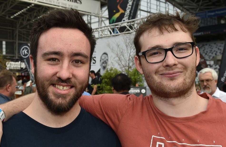 Matt Gillan and Jayden Russell, both of Dunedin.