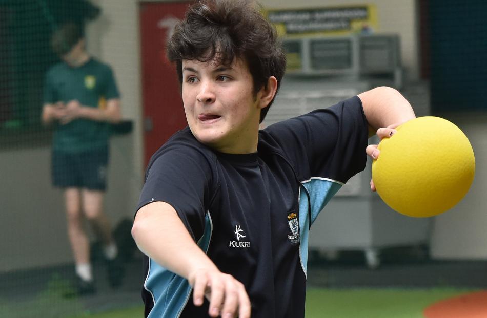 Regan Reihana-Flett (15), of King's High School, looks to make an impact in a dodgeball game at...
