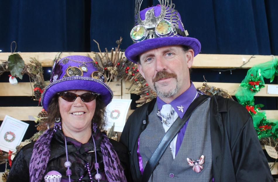 Steampunkers Debbie Kennard, of Pukemaori, and Lindsay Howley, of Mossburn.