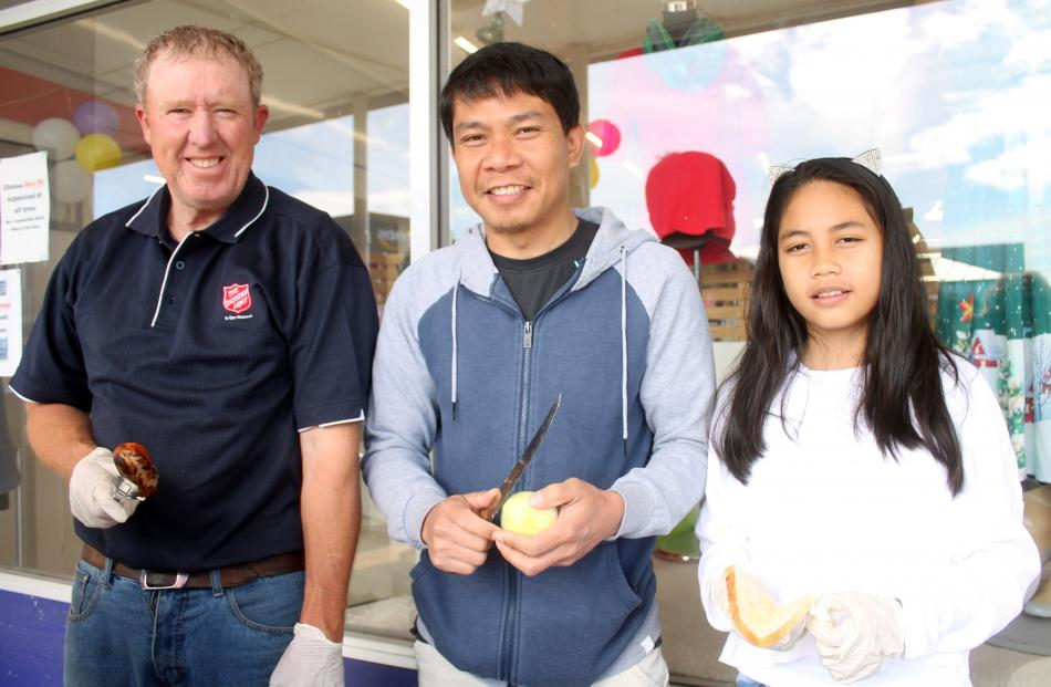 Winton Salvation Army members Andrew Sim, Ian Enot and Anne Enot (12).
