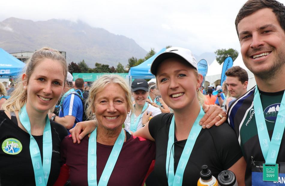 Sophie Daines, of Wellington, Jane and Olivia Besley, of Nelson, and Dan Thomas, of Motueka.