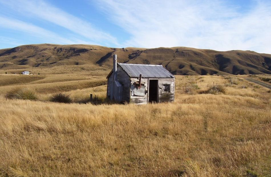 Historic musterers' hut.