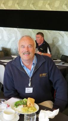 John Stevens, of Livestock Supplies, Gore, found the speakers interesting.