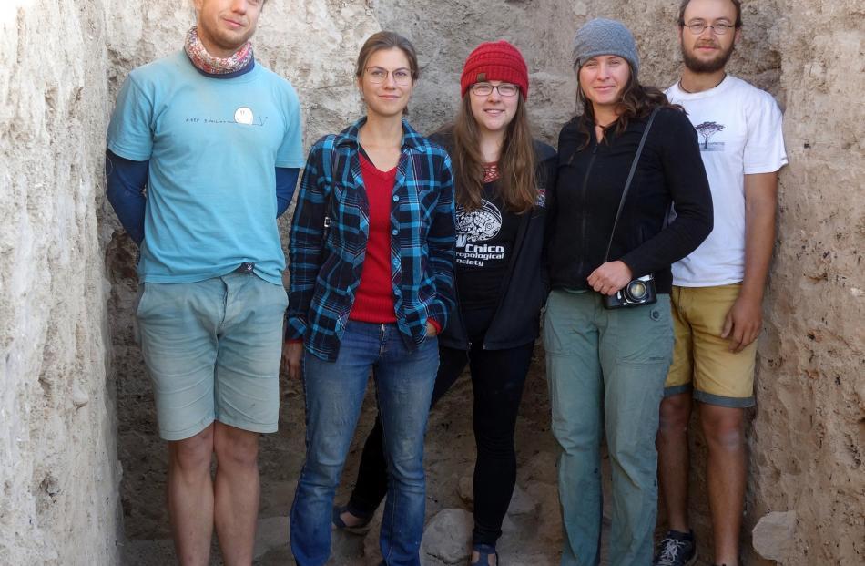 The team of academics who worked on the site are (from left) Ladislav Damasek, Marketa Smolkova,...