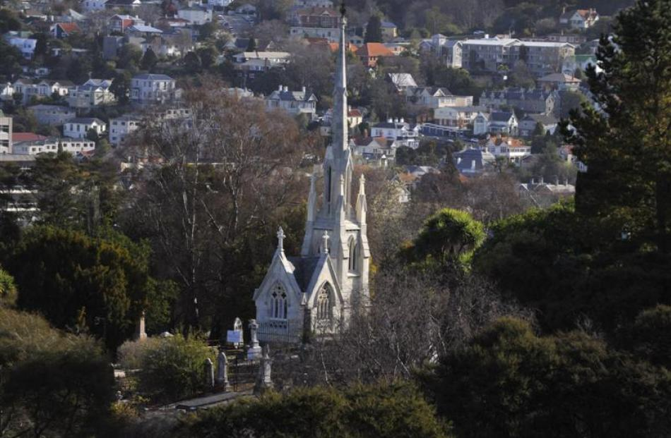William Larnach's tomb nestles among trees in the Northern Cemetery. Photos by Gerard O'Brien,...