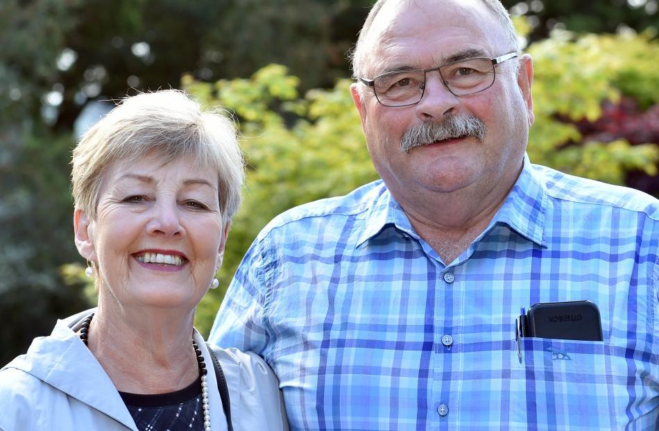 Lynley and Richard Bunton, of Dunedin.