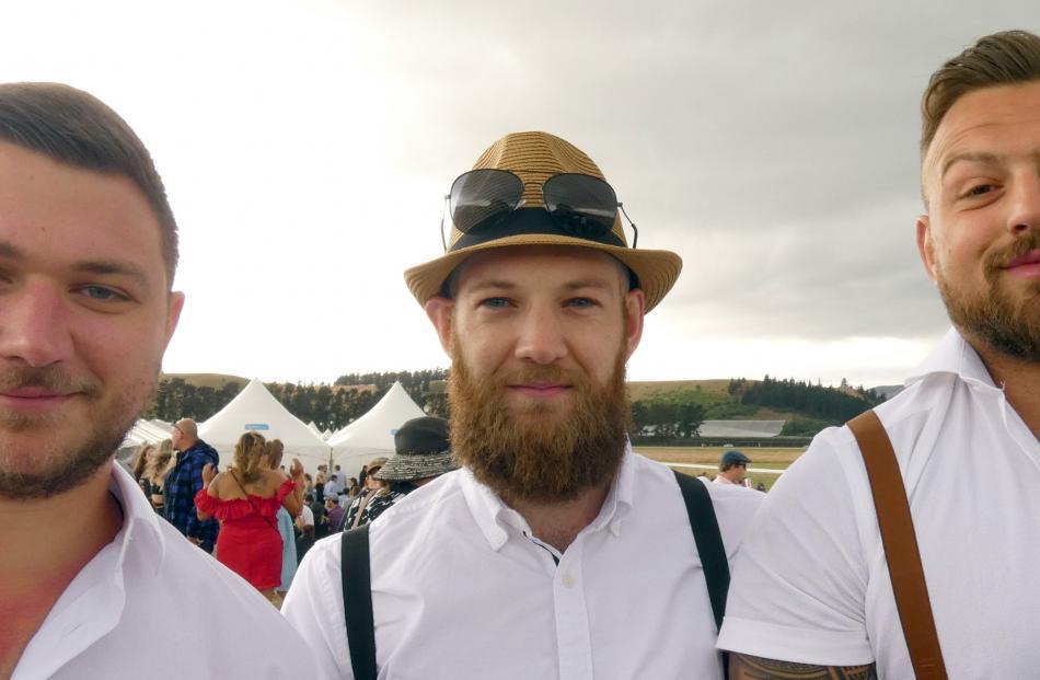 Ryan Greenwood, Niel Bailey and Rhys Kearton, all of Queenstown.