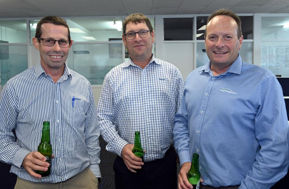 Bernard Lynch, of Dunedin, Brent Irving and Paul Thomson, both of Mosgiel.