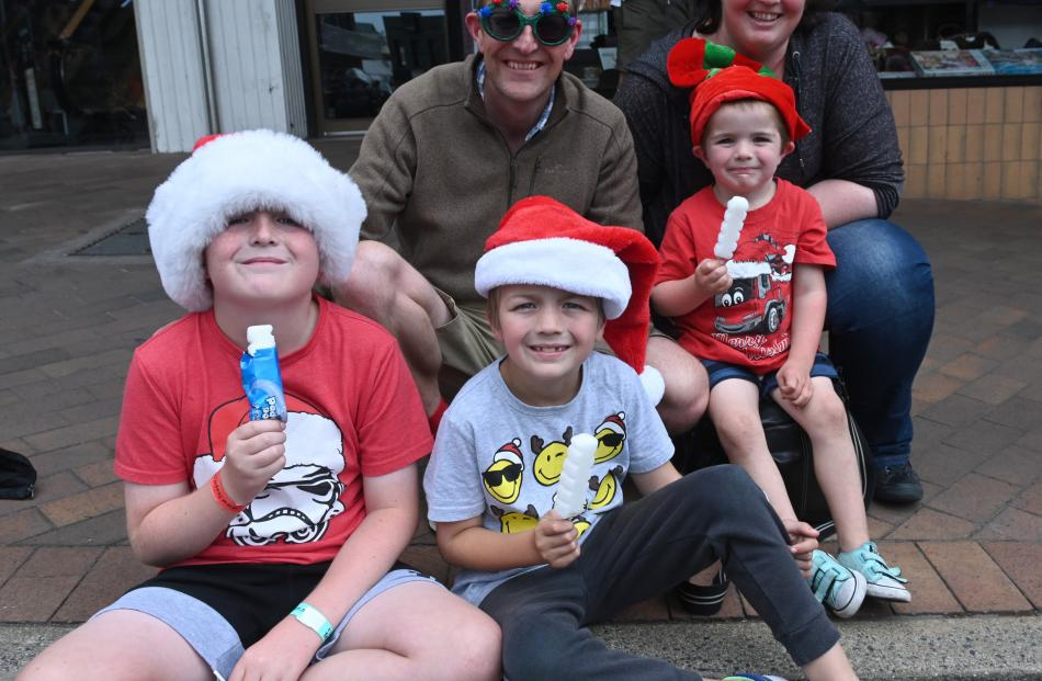 Sam (10), Gary, Ben (8), Alex (5) and Lynda Baskett, of Dunedin.