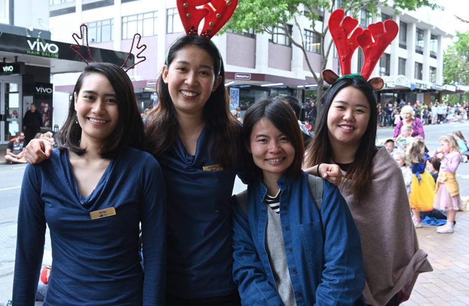 Amy Petasen, of Dunedin, Aliguna, of Dunedin, Lili Lin, of Taiwan, and Tina Wei, of Dunedin.